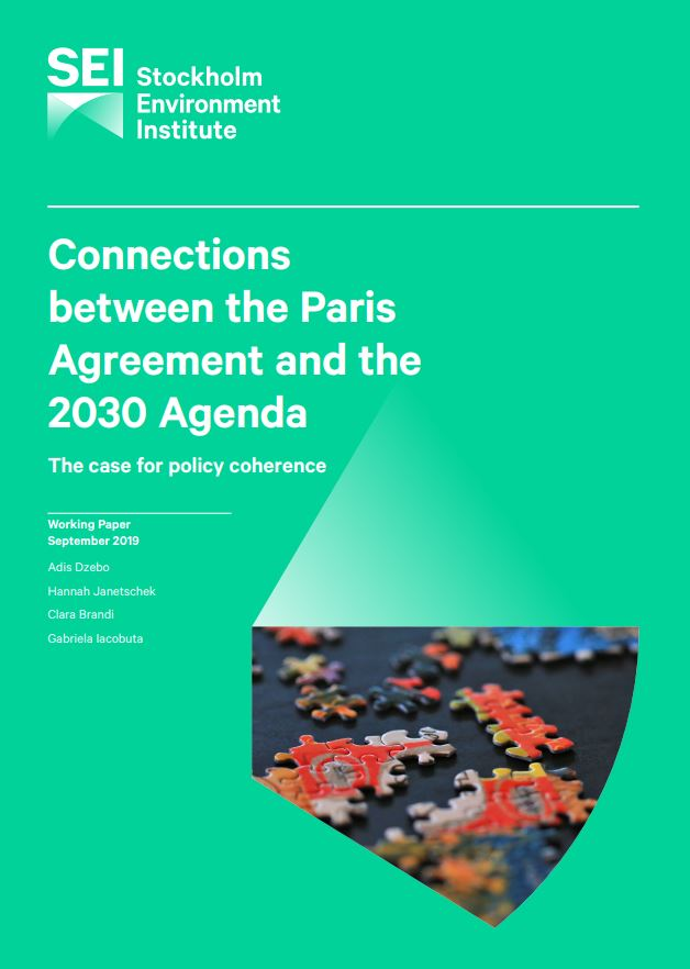Connections between the Paris Agreement and the 2030 Agenda