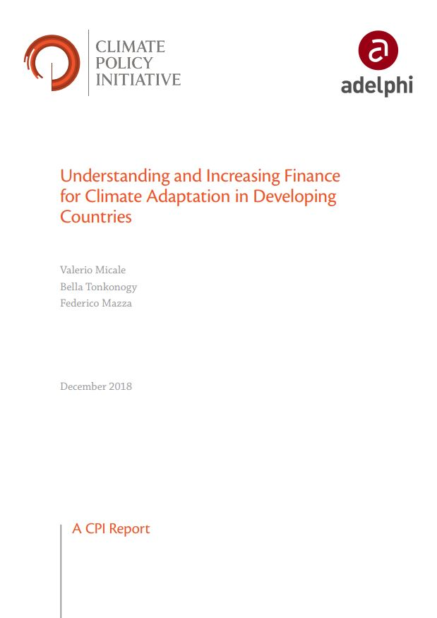 Understanding and Increasing Finance for Climate Adaptation in Developing Countries