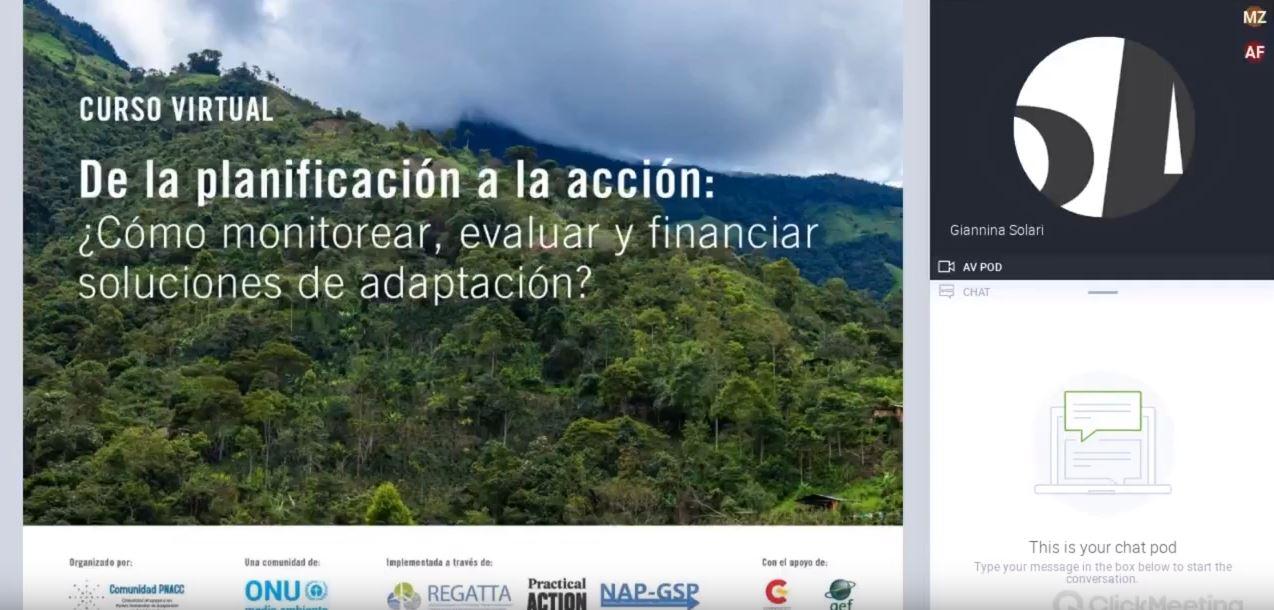 Seminario virtual: La medición de la adaptación al cambio climático. Compromisos, retos y barreras