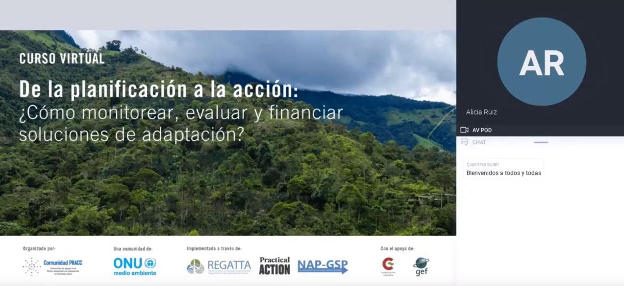 Webinar Módulo: El rol del sector privado en movilizar mayor financiamiento en adaptación