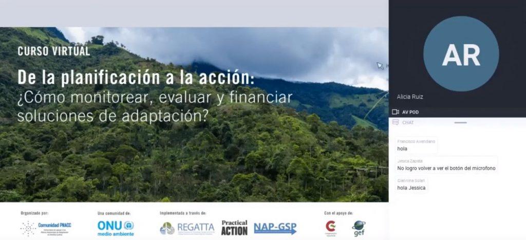 Webinar Módulo 4: Fuentes e instrumentos financieros del sector privado que incluyen adaptación