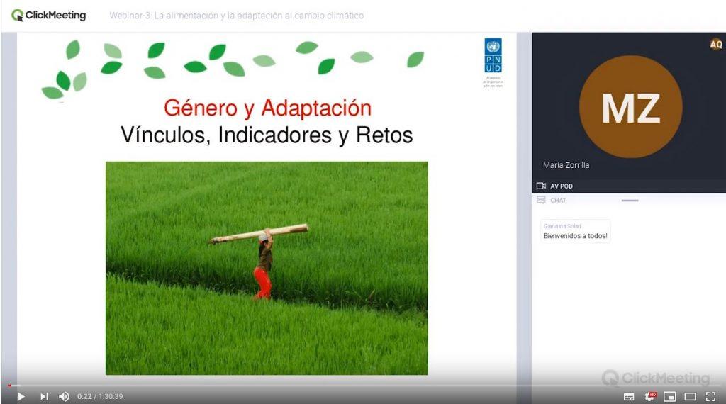 Webinar 3: La alimentación y la adaptación al cambio climático
